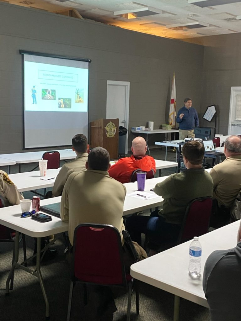 Randy McNeill provided Law Enforcement with training on important legal and safety issues 1